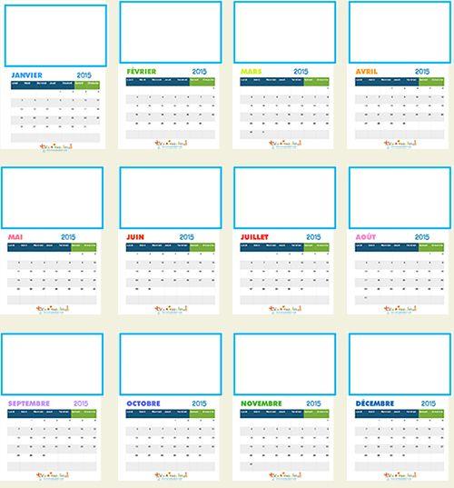 Calendrier 2015 à imprimer et à illustrer