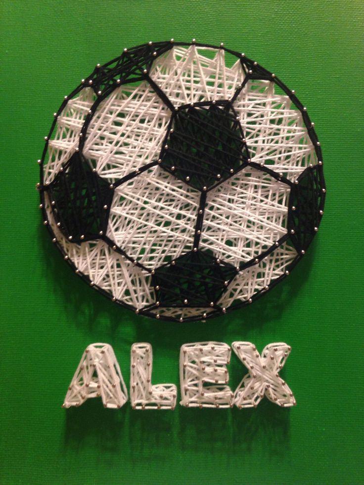 Soccer Ball String Art by stringyourheartout on Etsy https://www.etsy.com/listing/215047931/soccer-ball-string-art