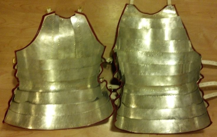 Inside view, showing tinned, spring steel plates.  Mid 14th to Early 15th Century Coat of Plates