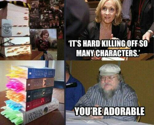 J.K. Rowling and George R. R. Martin
