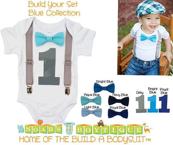 Boys First Birthday Outfit Baby Boy Birthday Clothes 1st