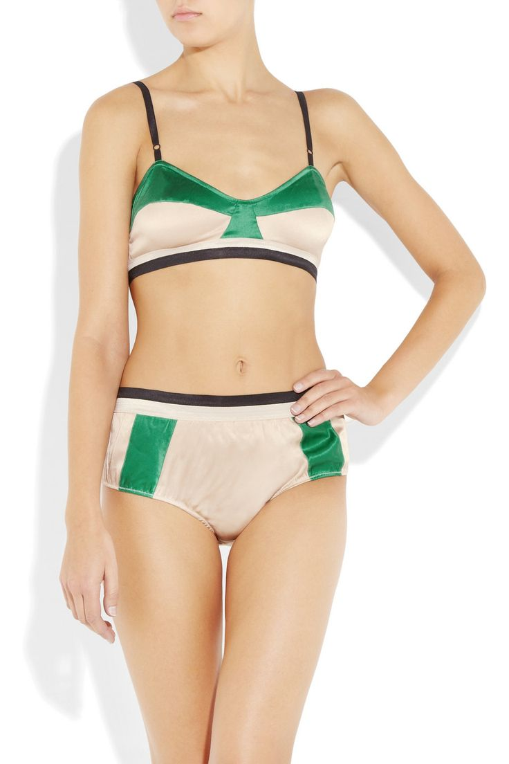 Marni Silk-Satin Bra + Panty Set. | Smallslove