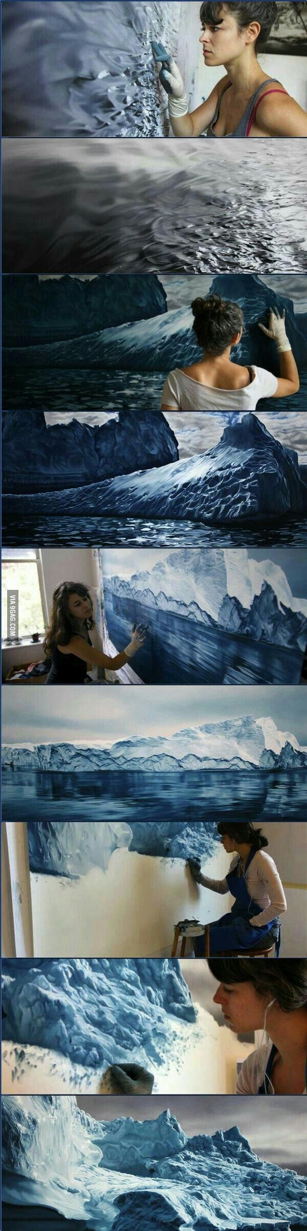 For those who liked Zaria Forman. She is amazing - 9GAG
