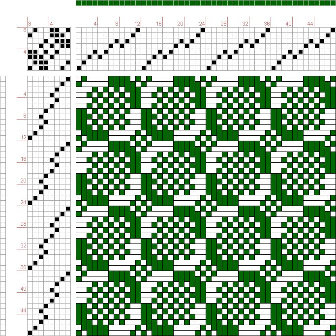draft image: Page 202, Figure 27, Donat, Franz Large Book of Textile Patterns, 8S, 8T
