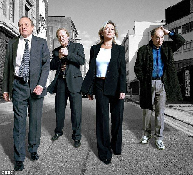The original crew: James Bolam, Dennis Waterman, Amanda Redman and Brian Lane in a publicity photo for the very first series of New Tricks, which was launched on BBC One in 2003
