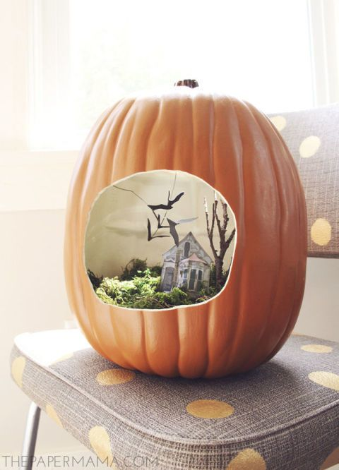 Pumpkin Dioramas Are This Year's Hottest Halloween Trend - GoodHousekeeping.com