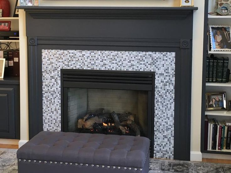 Our Old Fashioned Marble Gas Fireplace Surround Needed To Be Replaced And This Was Unbelievably