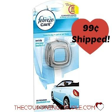 WOW! Get the Febreze Car Clips (Linen & Sky) for only $0.99 each SHIPPED! Down from $3 in most stores! Stock up for all your vehicles!  Click the link below to get all of the details ► http://www.thecouponingcouple.com/febreze-car-clips-linen-sky-only-0-99-shipped-reg-3/  #Coupons #Couponing #CouponCommunity