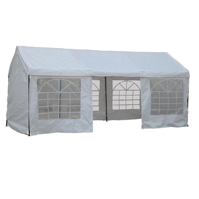 Location Tonelle 3x6  blanche.Dimensions : 600 x 300 x H.280 cm. #Location tente de réception barnum Tonelle 3x6m #Massy (91300)_www.placedelaloc.com/location/maison-vetements-soin/materiel-de-reception-tente-vaisselle