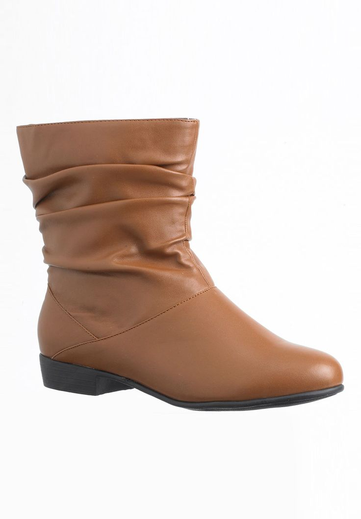 Madison Slouch Ankle Boots By Comfortview Plus Size Mid