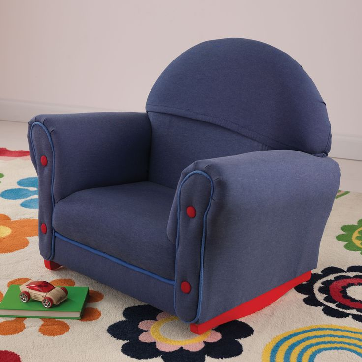 Upholstered rocker w slipcover denim 18685 rockers slipcovers and