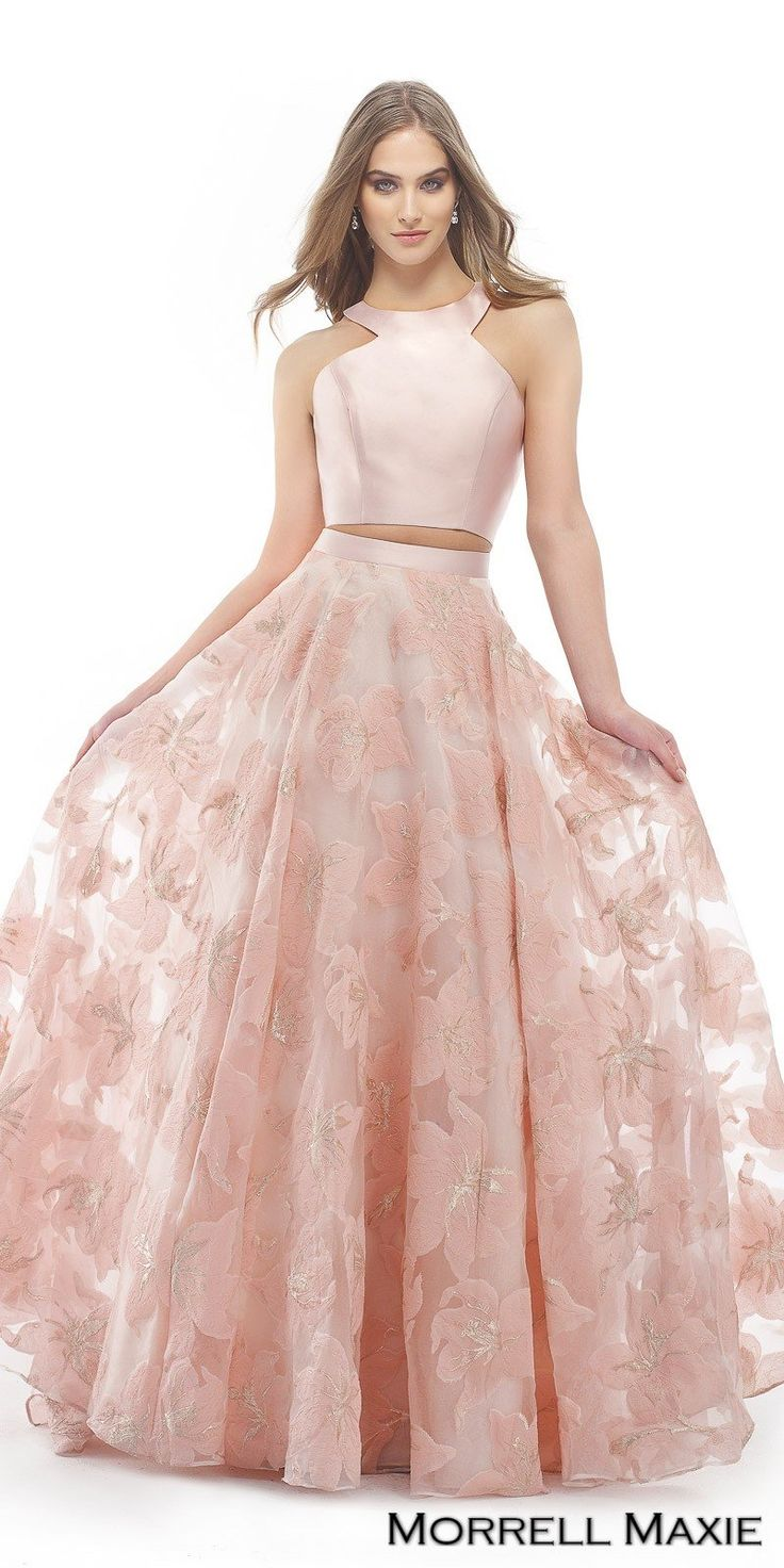 1257 best Pink Coral & Orange Evening dresses &High Couture images ...