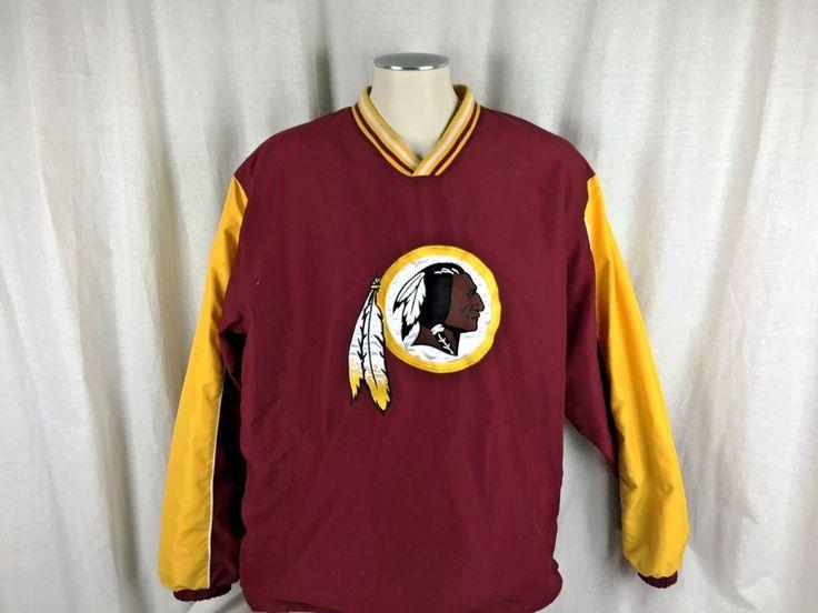 NFL Men's Size Large Washington Redskins Jacket Logo Pullover #NFL #WashingtonRedskins