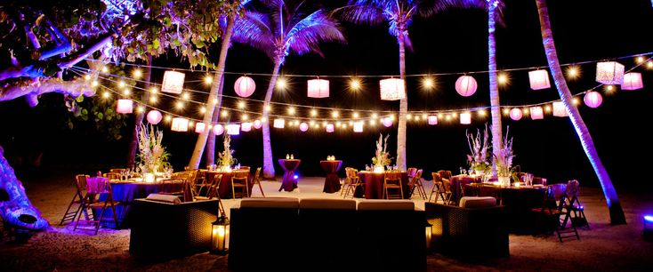 Night Beach Wedding in Key West - Casa Marina Resort