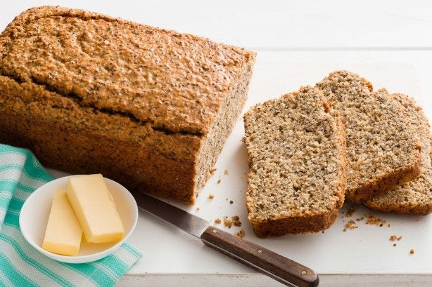 Reward yourself with a slice of delicious chia and poppyseed lemon bread.