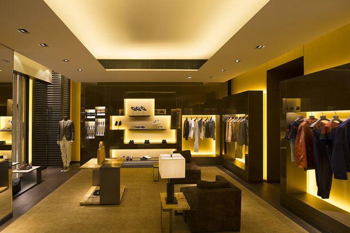 Инновационный дизайн бутика мужской моды Fendi