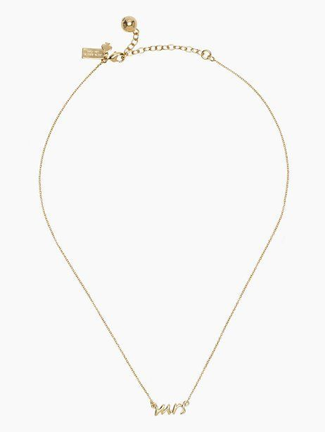 say yes mrs necklace - Kate Spade New York