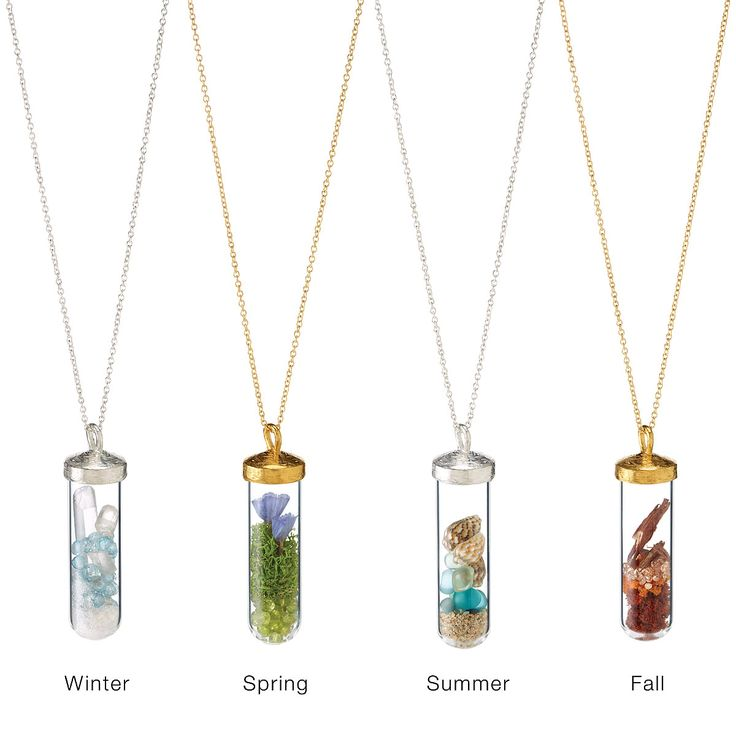 SEASONS TERRARIUM NECKLACES | fall jewelry, summer, spring, winter | UncommonGoods Gift idea for Mom?