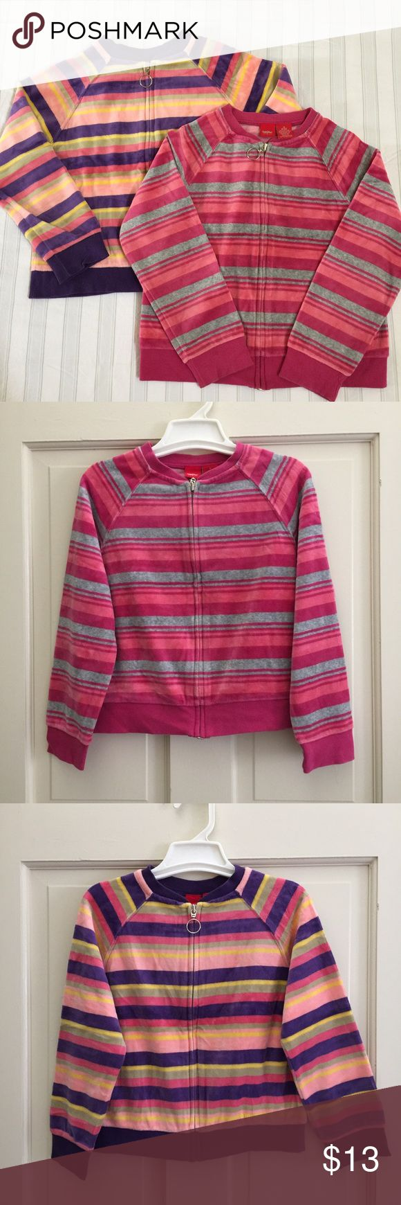 Set of 2 velvet jacket Girls velvet  stripe jacket size S 6/6X, So soft and comfy. no stains or holes good condition Mossimo Supply Co Jackets & Coats