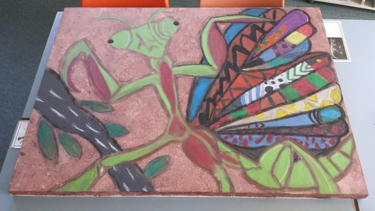 dungutti totem painting as an art project. Students from k-6.