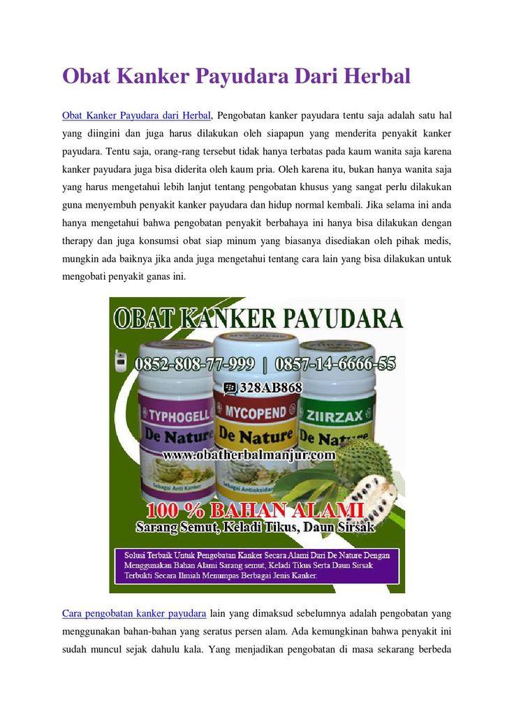 Obat kanker payudara dari herbal http://www.4shared.com/office/qqoZ_eofba/Cara_menyembuhkan_Kanker_Payud.html