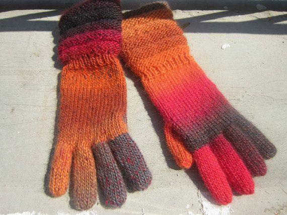 handmade cosy multicolor gloves, very nice