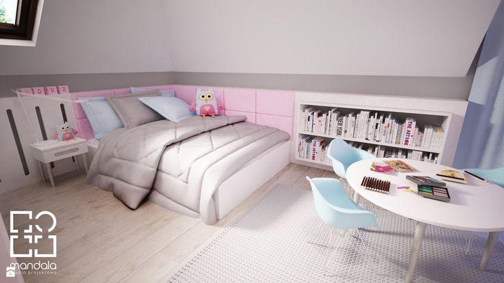 Pokój dla dziewczynki w 271 m2 domu jednorodzinnym - zdjęcie od studio_projektowe_mandala - Pokój dziecka - Styl Skandynawski - studio_projektowe_mandala