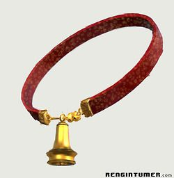 This Mogget's collar it's made a long time a ago by an Abhorsen. The purpose of this strong magical collar was to bind Mogget in his less dangerous form. When he is released he turns into a Free Magic Elemental. To change him back you have to put the expanding ring over his head.  -Lexin