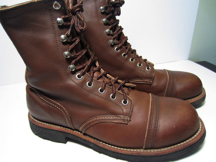 Vintage Red Wing 4415 Steel Cap Toe Iron Ranger Style