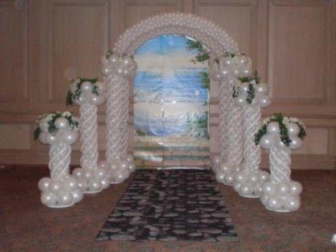Altar de casamento de balões