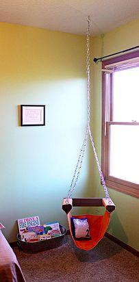 Make a hanging swing chair. | 21 Cozy Makeshift Reading Nooks