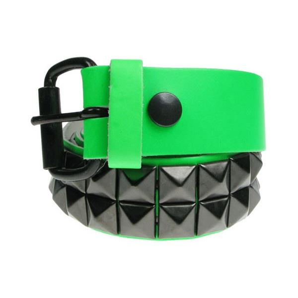 2 Row Black Pyramid UV Green Belt | Gothic Clothing | Emo clothing |... ($24) ❤ liked on Polyvore