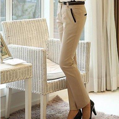 vrouwen Koreaanse klassieke magere ingerichte lange broek – EUR € 12.81