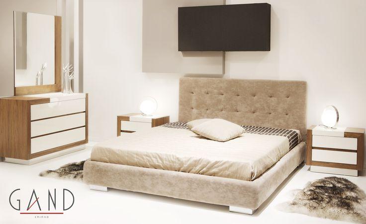 Κρεβατοκάμαρα Basic Δύο αγαπημένα στοιχεία ξύλο και δέρμα. Ένας συνδυασμός που αναδεικνύει το κρεβάτι σας και διαμορφώνει το υπνοδωμάτιο σας σε έναν πολυτελές χώρο!  http://www.epiplagand.gr/krevatokamares/basic/