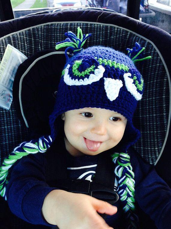 Seattle Seahawks Sombrero de halcón por FromThisToThatHat en Etsy