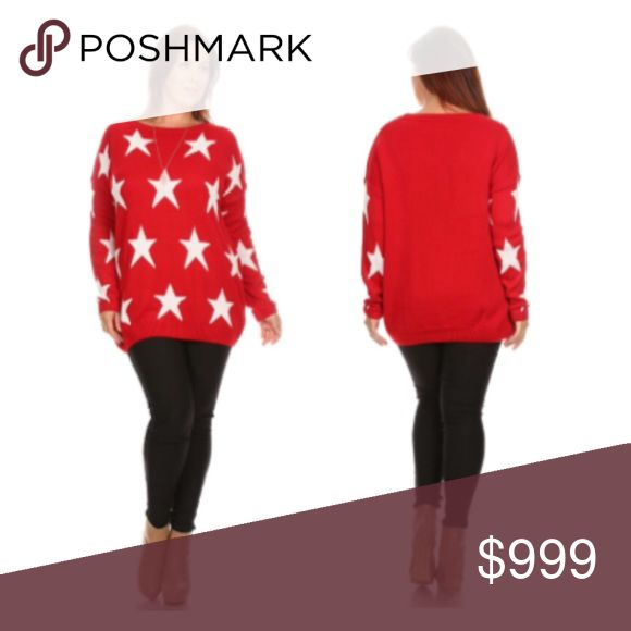 Coming soon! (Plus) Red star sweater Please like this listing to be notified via price drop when it becomes available for purchase.   Availability: 1x•2x•3x•4x • 1•2•2•1  🚫Current listed price is not what this will be listed at. 🚫ETA: 12/13 Sweaters Crew & Scoop Necks