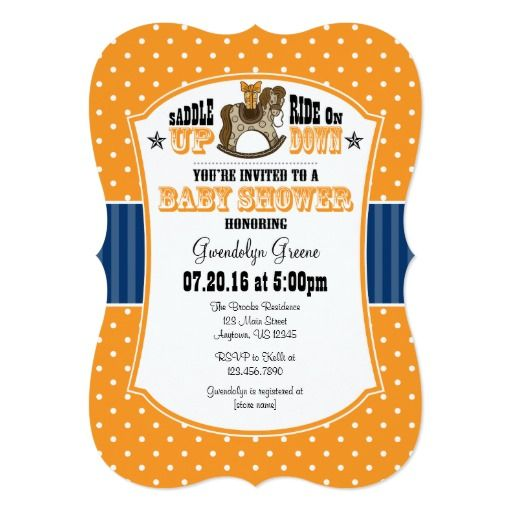 332 best Cowboy Baby Shower Invitations images on Pinterest Baby