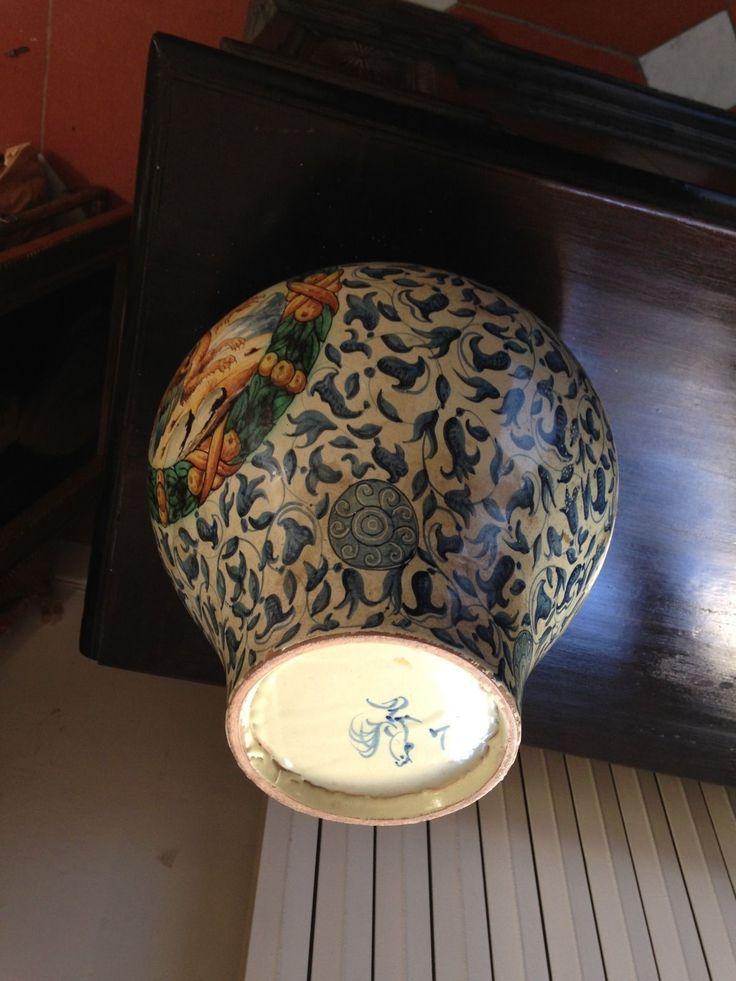 2 GRANDI VASI CANTAGALLI XIX° SEC. in Arte e antiquariato, Porcellana e ceramica, Vasi | eBay