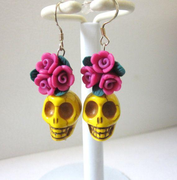 Día de los muertos earrings