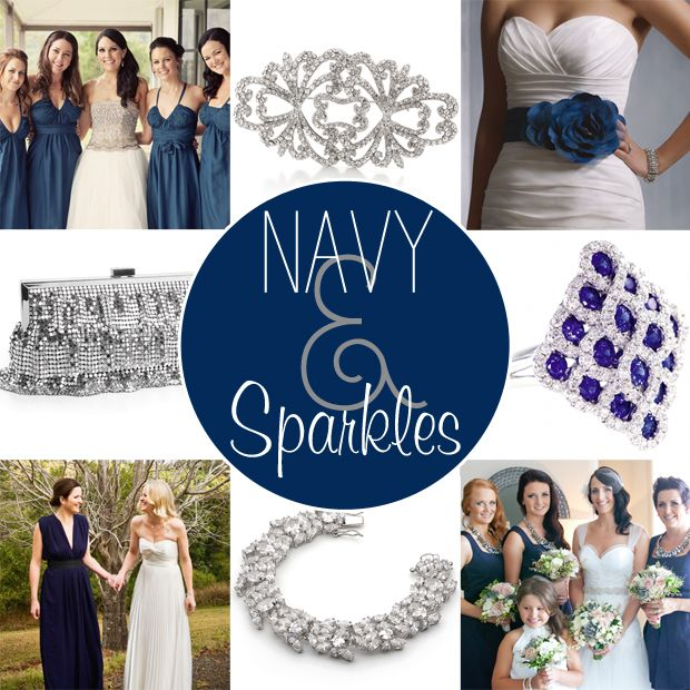 Navy And Silver Sparkle Wedding Color