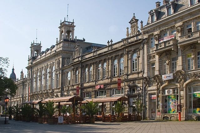 Rousse city and hotels in Bulgaria. (Ruse, Russe)