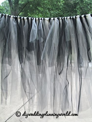 Wedding Tulle Table Skirt And Skirts On Pinterest