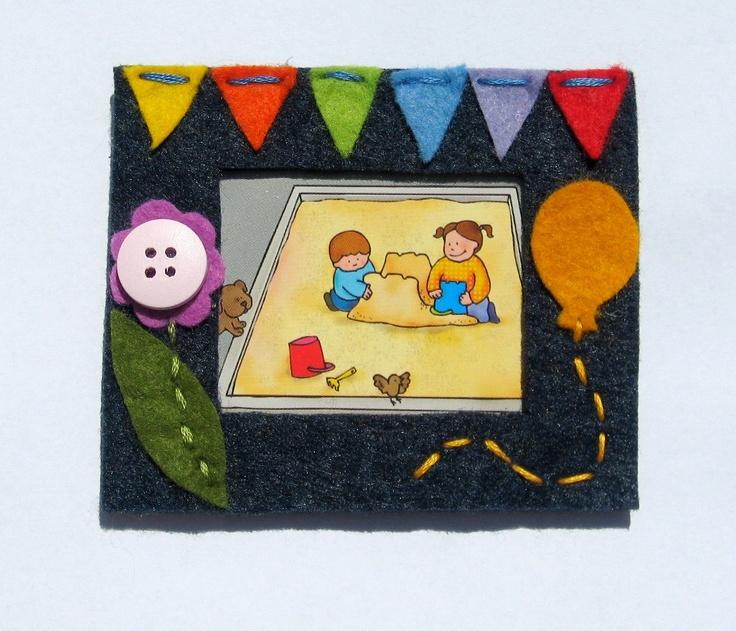 small felt photo frame 9 x 7.5 cm