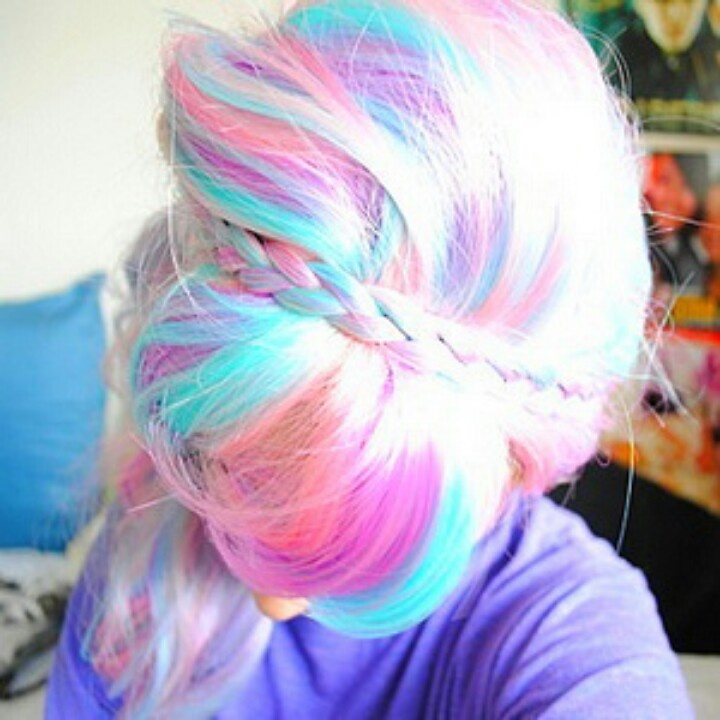 Colorful pastel hair