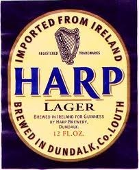 Harp Beer from Ireland, my favorite Irish beer so far, I first had this when stationed in the Washington DC area back in 1984.