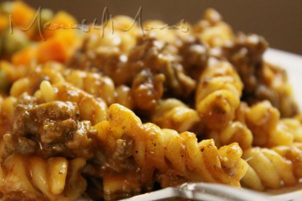 Cheesy Spirals - Menus 4 Moms (ground beef)