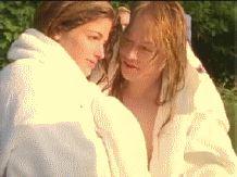 Stephanie Seymour and Axl kiss