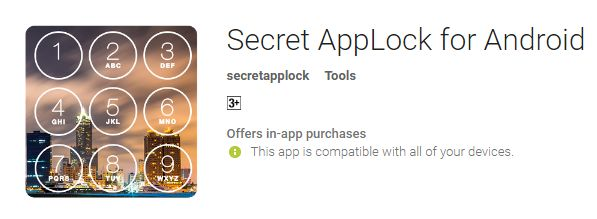 App of secret applock for android