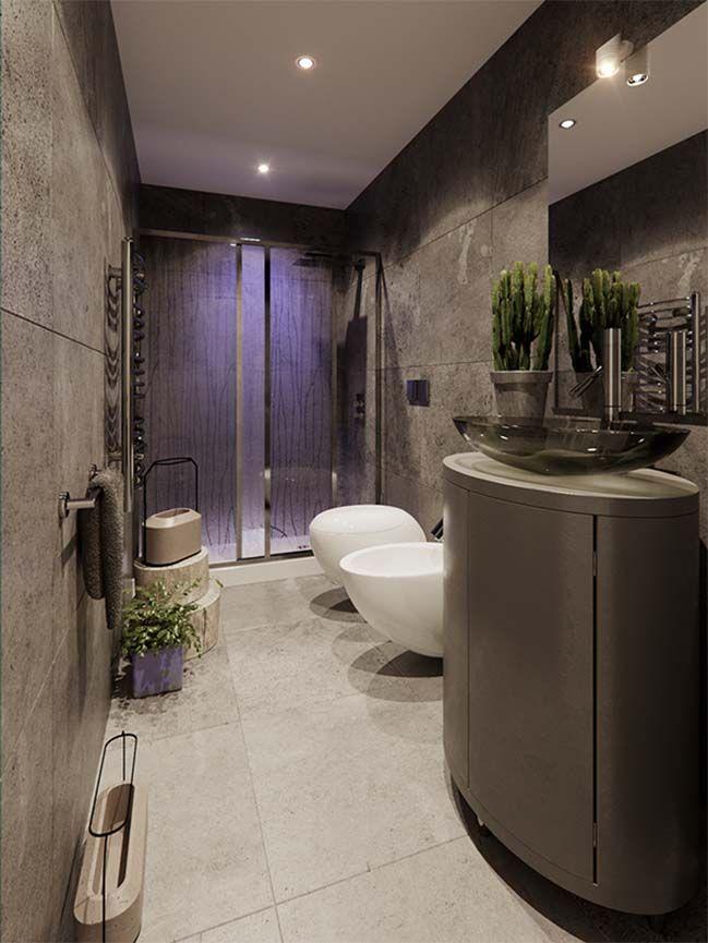 Cool small bathroom design by Jordan Pierguidi