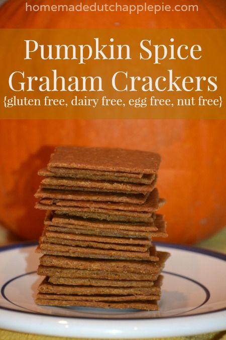 Pumpkin Spice Graham Crackers {gluten free, dairy free, egg free, nut free} | Homemade Dutch Apple Pie